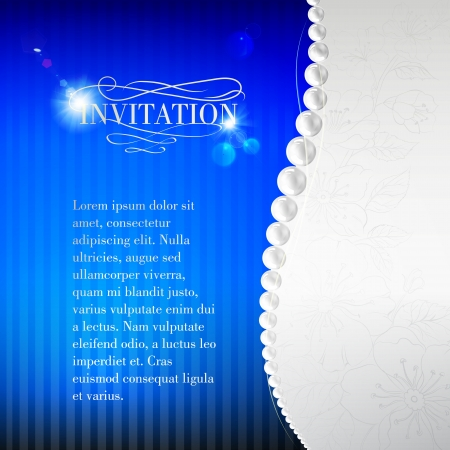 Jewelry invitation card. Vector illustration. Vector