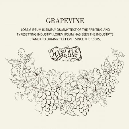 Design for wine list. Vector illustration. Vector