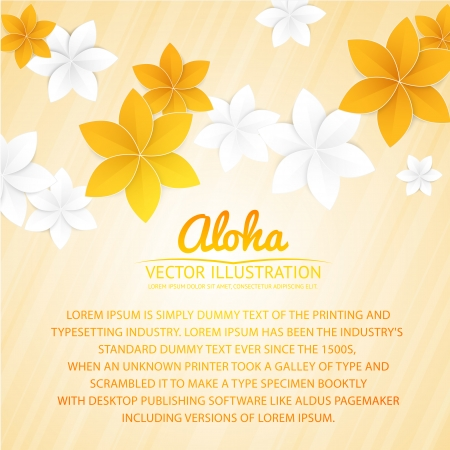 flowers background: Abstract background with paper flowers and place for text. Vector illustration. Illustration