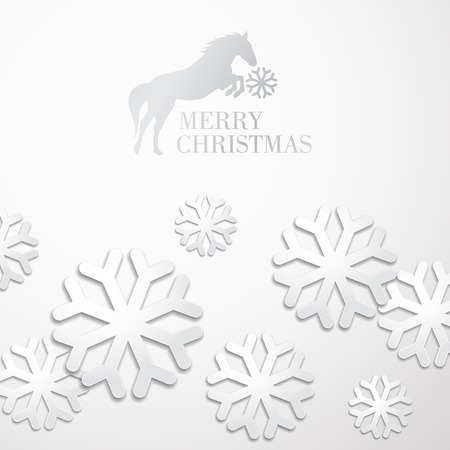 Creative christmas snow cristalls holiday card. Vector Illustration. Vector
