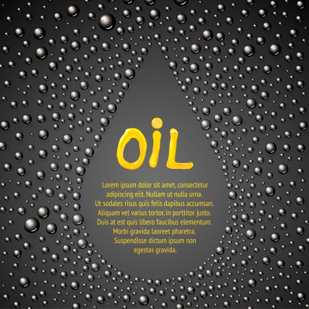 Oil drop abstraction. Vector illustration.