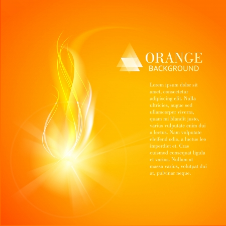 Abstract orange background of industry fire. Vector illustration. Vector Illustration