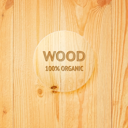 wood pattern: Wooden texture with glass lens. Vector illustration. Illustration