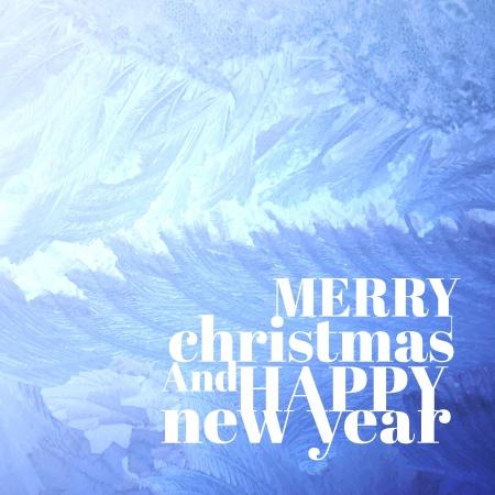 Christmas background pattern on glass.  Vector Illustration. Vector