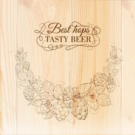 Beer hand drawn illustration. Vector illustration.
