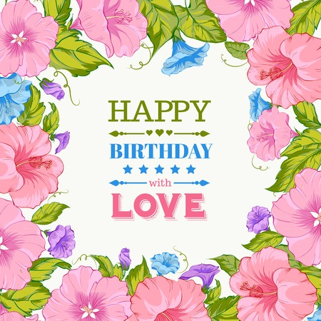 Happy birthday card. Vector illustration. Vector