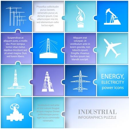 fracking: Flat layout infographic design. Vector illustration. Illustration