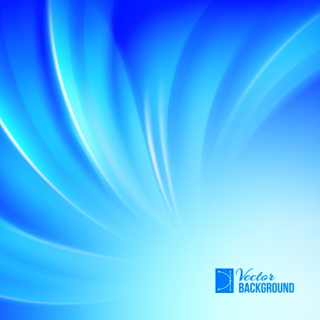 desktop wallpaper: Background blue luminous waves. Vector illustration.