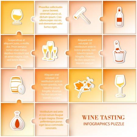 Flat vine infographic design. Vector illustration. Vector