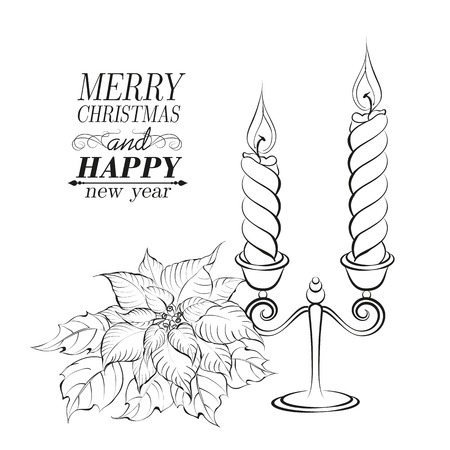 Christmas decoration isolated over white. Vector illustration. Vector