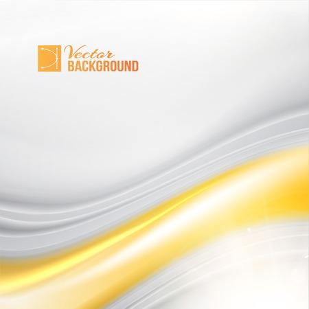 Silk and golden flow. Vector illustration. Banco de Imagens - 23639969