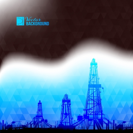 fracking: Industrial abstraction. Vector illustration.