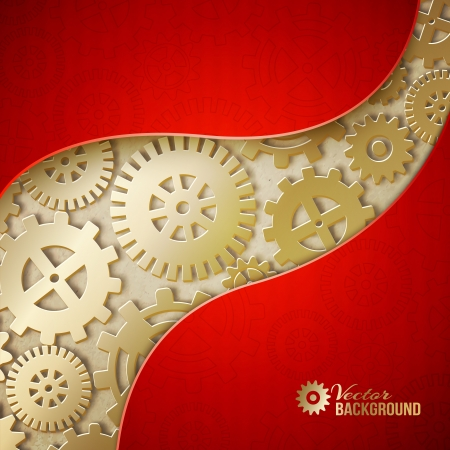 Mechanical gears background. Vector illustration Vector