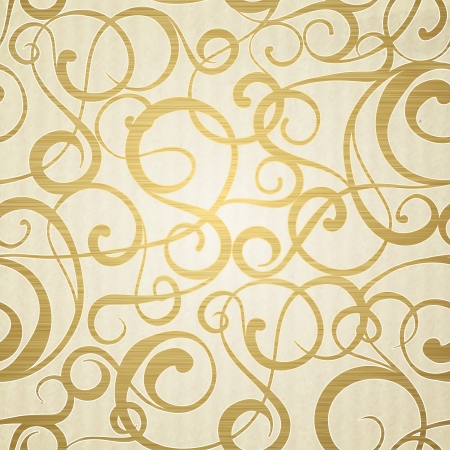 modern art: Golden abstract pattern on sepia background.  Vector illustration. Illustration