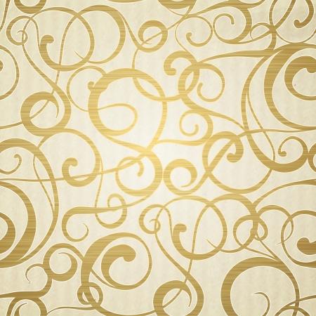 arte moderno: Modelo abstracto de oro sobre fondo sepia. Ilustración del vector.