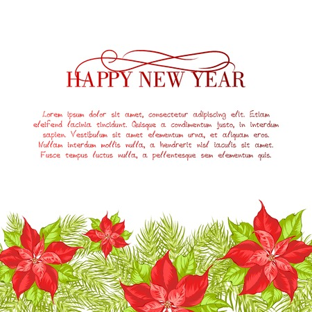 Christmas and New Year  greeting card. Vector illustration. Vector