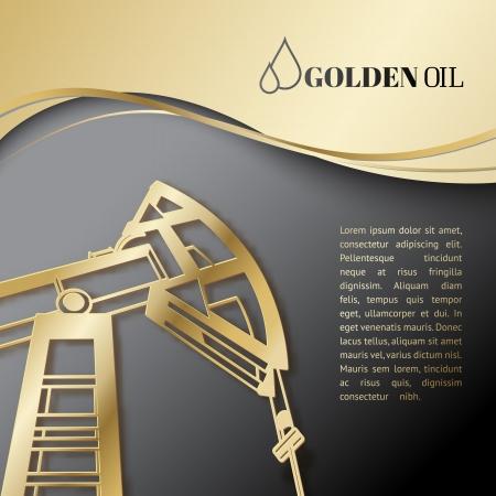 oil well: Oil industry pump design. Vector illustration.