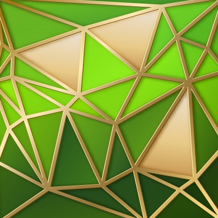 Fabulous triangles pattern in gold. Vector illustration. Vector