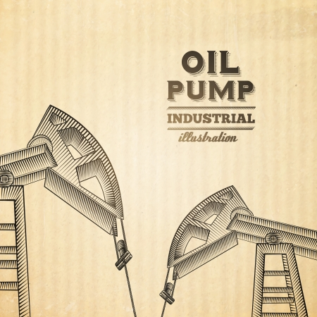 Oil pump jack silhouette design. Vector illustration. Vector