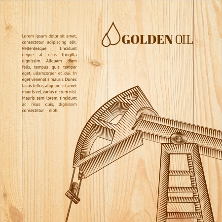 Oil pump jack silhouette design. Vector illustration. Vector