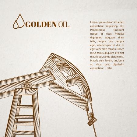 spiraglio: Pompa di olio disegno silhouette jack. Illustrazione vettoriale.