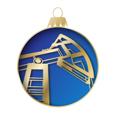 industry design: Oil industry christmas design. Vector illustration.