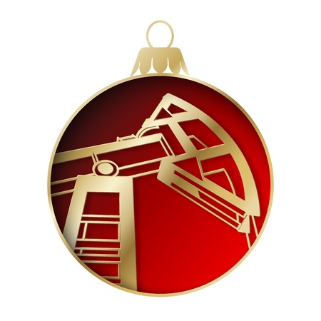 gas ball: Oil industry christmas design. Vector illustration.