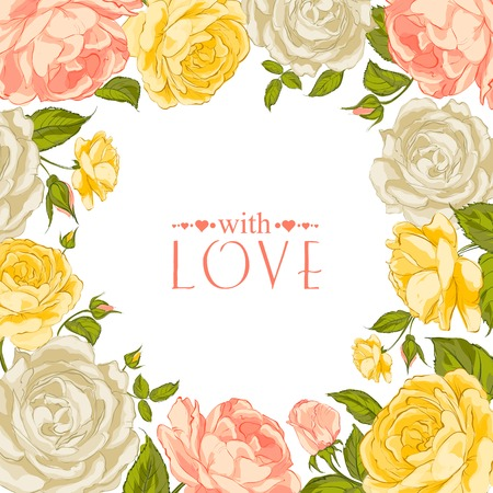 complimentary: Complimentary of rose frame. Vector illustration. Illustration