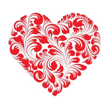 Valentines heureux carte de voeux. Carte de cru avec le coeur. Vector illustration. Banque d'images - 24340672
