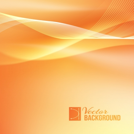 air flow: Abstract smooth horizontal background lines for your text. Vector Illustration. Illustration
