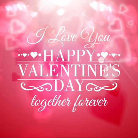 Happy valentines day greeting card. Vector illustration. Vector