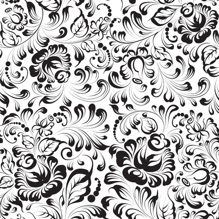 seamless floral pattern on blue background vector Stock Vector - 25026267