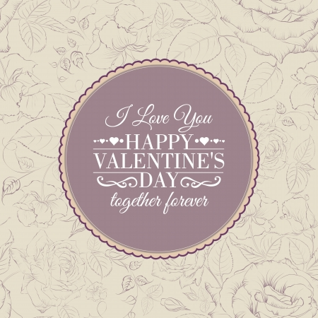 I love you card. Happy valentines day. Vector illustration. Vector