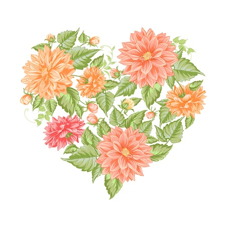 Chrysanthemum holiday card for your design. Vector illustration. Vector