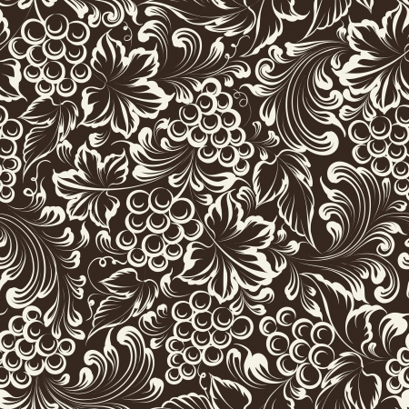 nature wallpaper: Vine seamless background. Vector illustration Illustration