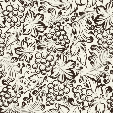 Vine seamless background. Vector illustration Zdjęcie Seryjne - 25427437