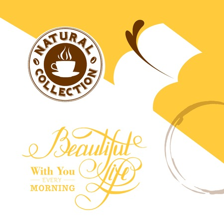 Background with stains of coffee. Vector illustration. Vector