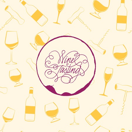 Wine drops over text paper background. Vector Illustration. Vector
