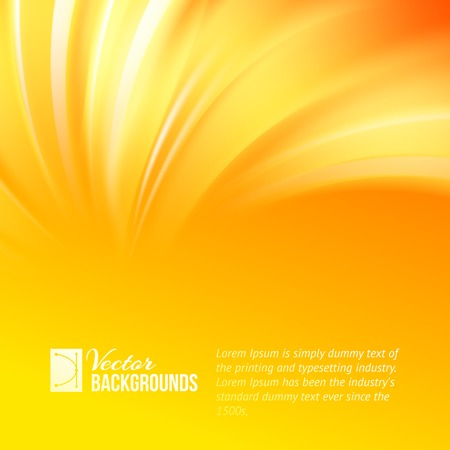 Colorful smooth light lines background. Vector illustration. Ilustração