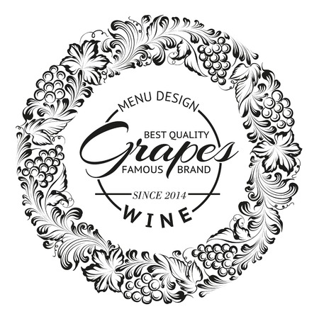 Grapes design for wine menu. Vector illustration. Vector