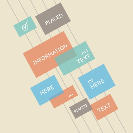 Place for your text here. Template of design. Vector illustration. Vector
