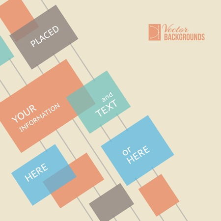 your text here: Place for your text here. Template of design. Vector illustration.