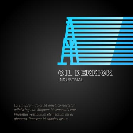 Oil rig icon. Vector illustration. Vector