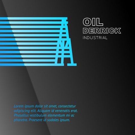 Oil rig icon. Vector illustration. Vector