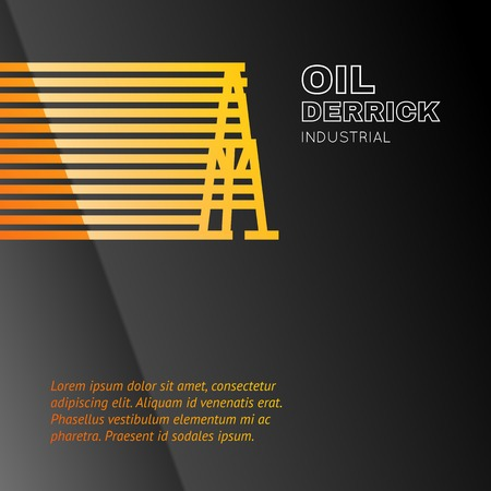 Oil rig icon. Vector illustration.