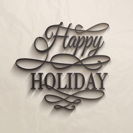 Happy Holiday - postcard decoration illustration.