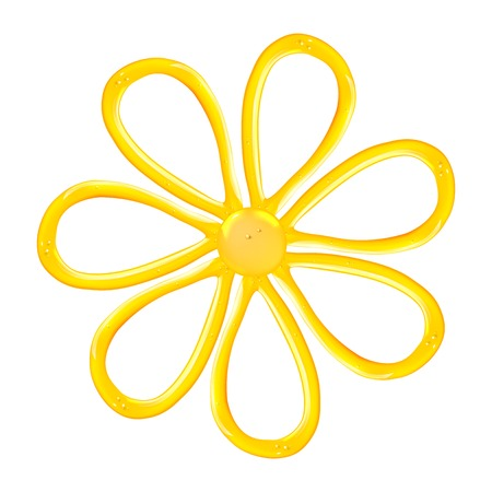 Gel flower icon. illustration. Vector