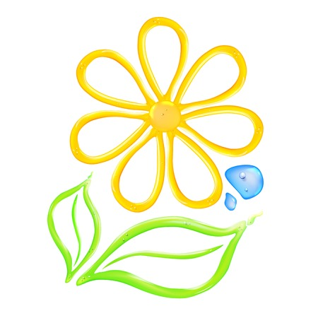 blossom honey: Gel flower icon. illustration. Illustration