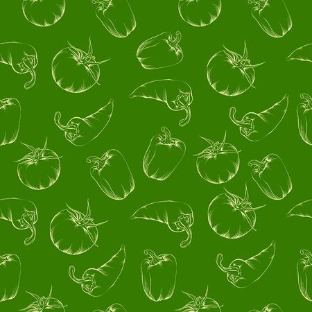 jalapeno pepper: Vegetable pattern - green