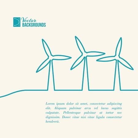 windpower: Wind turbines generating electricity